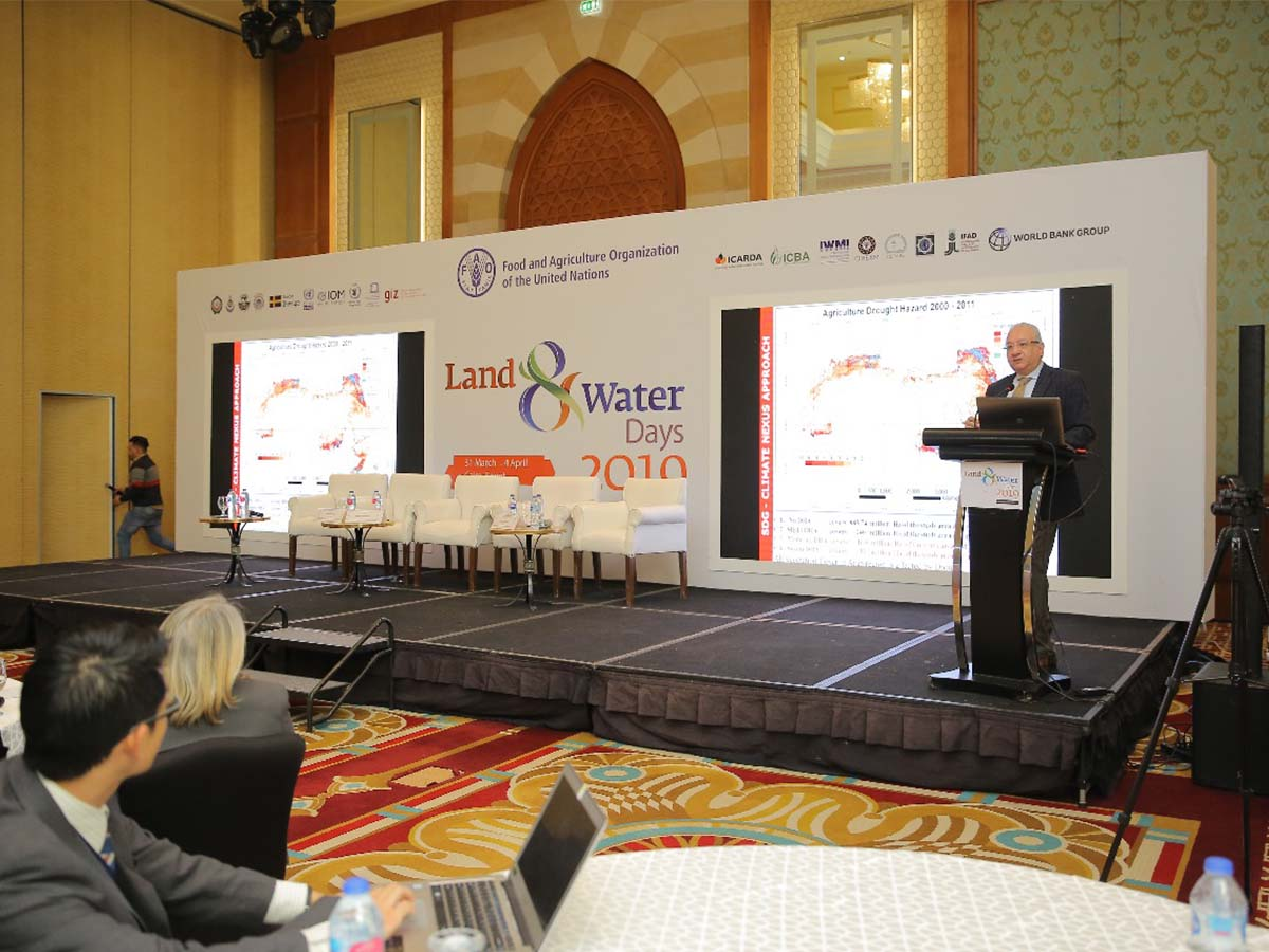 Main Stage - Al Qahira Ballroom - Nile Ritz Carlton - Land and Water Days 2019 Event by Paradigm Ltd.